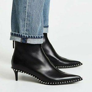 Alexander Wang Eri Low Booties Black Zipper